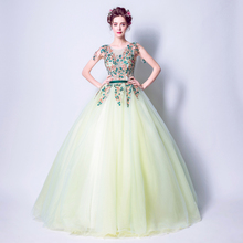 Angel Wedding Dress Marriage Bride Bridal Gown Vestido De Noiva 2017 Green, embroidery, the wizard of Oz 2217(China)