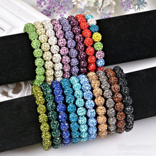 2016 New Women Shambala Jewelry 15 Colors Shamballa Bracelets For Women Crystal Bracelets & Bangles Wholesale(20 balls)(China)