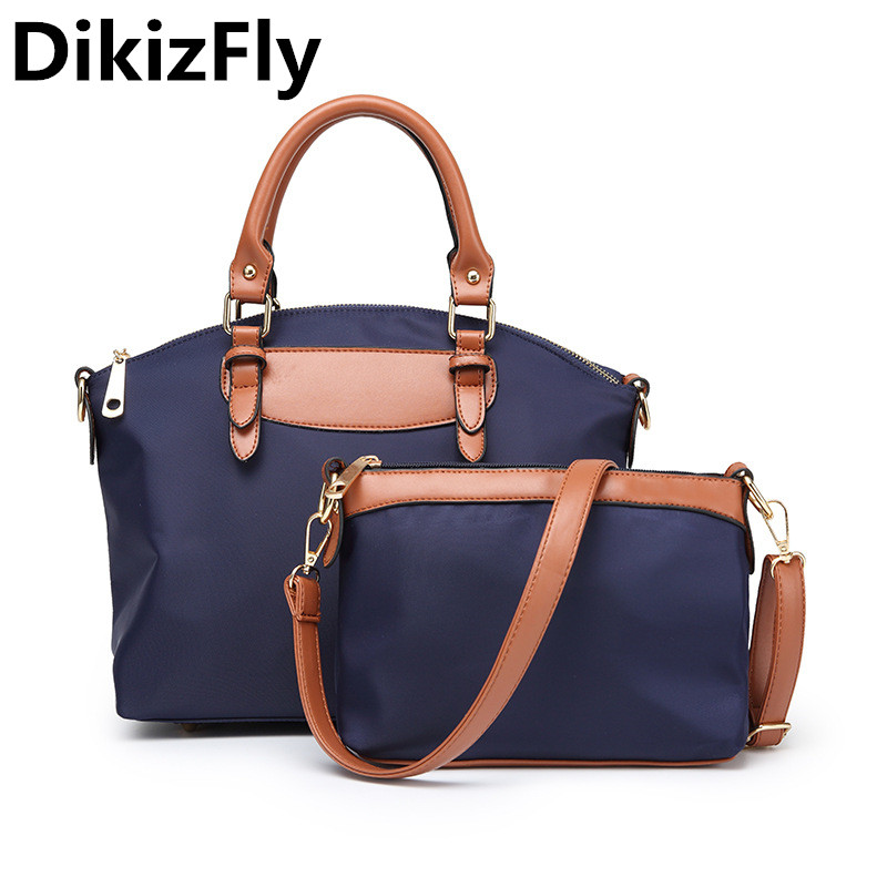 DikizFly Casual Oxford Women Bags Totes Messenger Bag Fashion Light Handbag For Women Composite Bag Female Shopping Travel Bags <br>