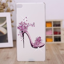 For Huawei Ascend P8 Lite Case, Crystal Diamond 3D Hard Plastic Cover Case For Huawei  P8 Lite P8 Mini Cell Phone Cases