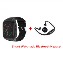 new X01S 512MB 8G Android Smartwatch Phone Bluetooth Smart Watch 1.3GHz Dual Core IP67 GPS Watch Cam Heart Rate 3G WiFi(China)