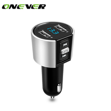 Onever Bluetooth FM Transmitter Wireless In-Car MP3 Player Bluetooth Transmitter Radio FM Transmitter with Dual USB port Charge(China)