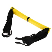 9 Rung 16.5 M Soccer Football Speed Agility Training Ladder Sports Exercise Equipment With Carry Bag
