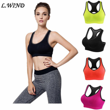 Women Sports Bra Fitness Gym Running Jogging Yoga Bra Padded Underwear Breathable Top Tank S333(China)