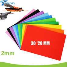 Toppory (10pcs )30*20cm Coloured EVA Fly Tying Foam Sheets DIY Tying Materials Cylinder Popper Bodies Fly Tying Bodies EVA Funky(China)