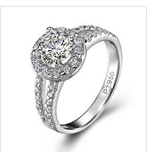 2Ct Round Cut Synthetic Diamonds Ring Engagement Jewelry for Women 925 Sterling Silver Wedding Jewellery