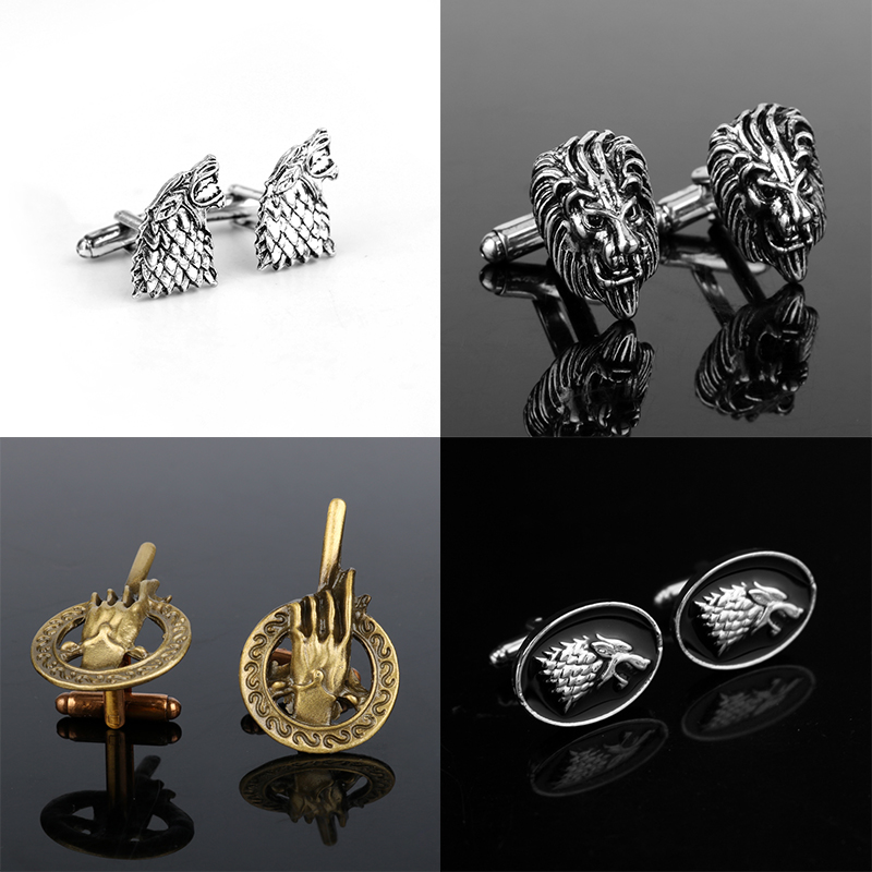 Chinese Dragon Cufflinks Charms Noble Cuff Link Jewelry for Men Wedding Business