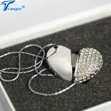 Trangee Jewelry Heart USB Flash Drive 4GB 8GB 16GB 32GB Diamond Pen Drive USB 2.0 Flash Memory Stick Necklace Girl Gifts