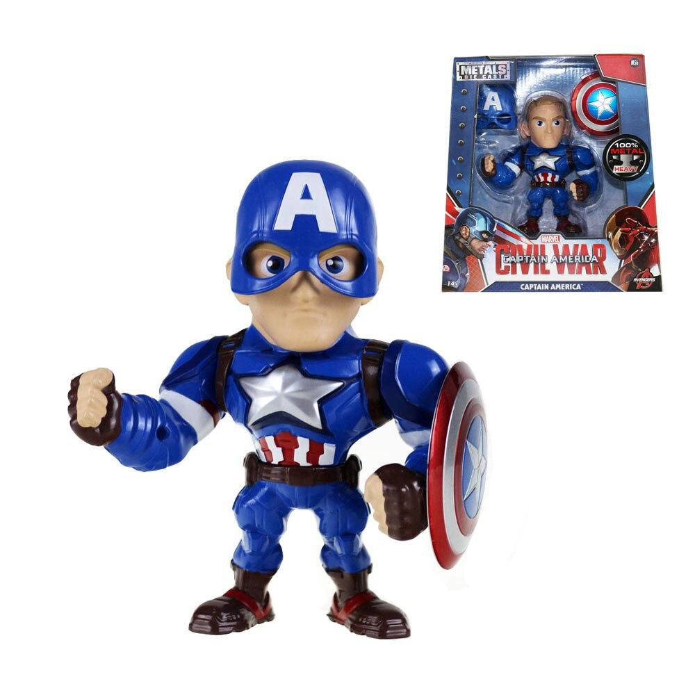 Movie Civil War Captain America Metals Die Cast 15cm/6 Figure M56 Free Shipping<br>