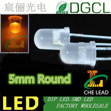 1.5Hz single blinking light emitting diode Orange 5mm diffused dip led 600-610nm 3.0-3.5V(China)