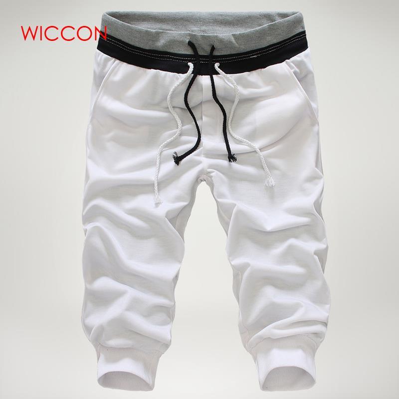 Men/'s Casual Sports Drawstring Baggy Pants Jogger 3//4 knee Trousers Capri Shorts