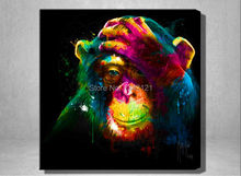 patrice murciano Original Colorful Paint monkey oil painting Graphic picture Art print on the canvas decor Home wall art picture