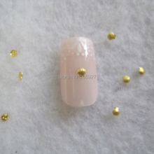 MD-723 30pcs Nail Decoration 2mm Metal Gold Shell Metal Nail Art Decoration