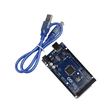 Free Shipping  for Arduino Mega 2560 R3 ATmega16U2 Development Board + USB Cable Diy Starter Kit ATmega2560 Mega2560 Atmega