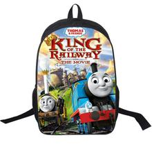 2016 little trains backpack double layer custom made children Schoolbag train Kids Cartoon train bag men bags