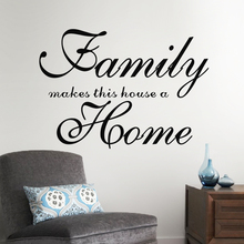 family makes this house a home letters wall decals for bedroom living room diy home decoration stickers diy art