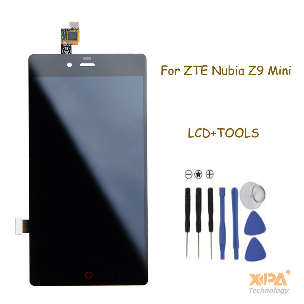 Black For ZTE Nubia Z9 mini NX511J LCD Display + Touch Screen with Digitizer Full Assembly + Tools ,Free shipping with track no<br>