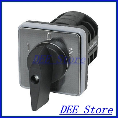 Electric 3 Position 1-0-2 12 Terminals Rotary Cam Changeover Switch Ue 380V 5A<br><br>Aliexpress