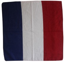 Free Shipping 2017 100% Cotton French Flag Bandana Headwrap For Women Men