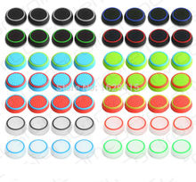 IVYQUEEN 4 pcs / lot Rubber Silicone Analog Thumbsticks Grips Cover for Sony Dualshock 4 PS4 PS3 Controller Thumb Joystick Caps(China)