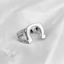 Men's Hip Hop Jewelry Horseshoe Rings Fashion Vintage accessories Finger Ring  stainless Steel ring