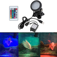 Underwater 36LEDs 1.5W 12V Waterproof IP68 Submersible Spot Lights RGB for Aquarium Garden Pond Pool Tank LED Lighting EU/UK/US