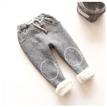 BibiCola baby girls winter and autumn kids clothing boys girls pants cotton trousers Sports pants clothes Children clothing(China)