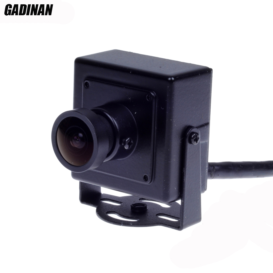 Gadinan 2.1mm 150 degrees Lens Wide Angle 720P CMOS 1.0MP CCTV Mini IP Camera P2P Plug and Play support ONVIF<br><br>Aliexpress