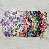 2015 Free доставка многоразовые ткань органических бамбука Гигиенических Прокладок, моющиеся ПУЛ печати менструального pad для женщин женская гигиена 6 pcs