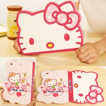 New 3D stereo Cute Hello Kitty Cat Shape Stand Case For Ipad Mini 4 Case Smart Tablet PU Leather Cover 7.9 Inch For Kids Girls(China)