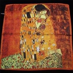 Женский шёлковый шарф-платок