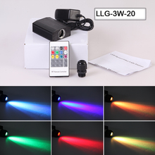 RGB color changing MINI LED 3W fiber optic light ac power supply light source engine(China)