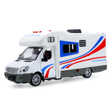 2017 Hot sell 1:36 Limousine Motor Homes Diecast Alloy Metal Luxury Bus Model Collection Model Pull Back Toys Car Gift For Boy