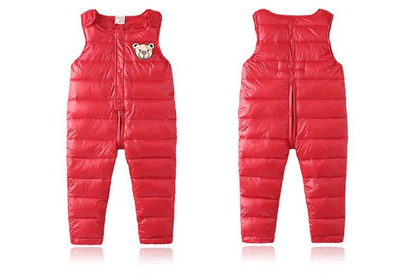 COOTELILI Cotton Winter Overalls Padded Outdoor Romper Pants High Quality Baby Girls Boys Jumpsuit Kids Clothes  90-110cm  (8)