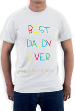 Best Daddy Ever - Kid's Handwriting Gift for Father's Day T-Shirt Funny North Carolina Jersey T-Shirt