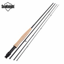 Seaknight MAXWAY Fly Rod Classic 3/4# 2.1M Fly Fishing Rod 30T Carbon Fiber Spinning Fishing Pole 4 Segments Jigging Feeder Rods(China)
