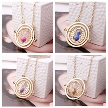 Fashion Women Magic Jewelry Vintage Novelty Style Necklace 360 Degree Time Converter Rotation Turner Hourglass Pendant Necklaces
