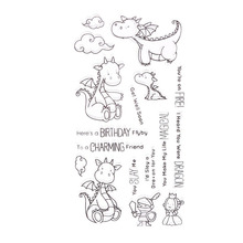 CCINEE Dragon Style Transparent Stamp Clear Stamp  Pattern Stripe DIY Scrapbooking/Card Making/Christmas Decoration Supplies