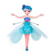Princess Toys 3 Styles Flying Fairy With Lights Up I Induction Doll Kids Electronic Interactive Toys Control Fashion Birthday