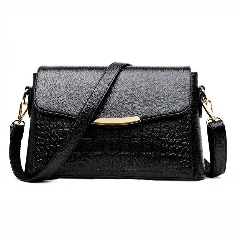 High Quality Womens Genuine Leather Handbags Shoulder CrossBody Bags Fashion Messenger Bags Alligator Satchels Women Bags<br>