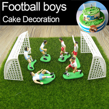 Football Boys Miniature figurine Spoart Team Cake Decoration Mini Fairy Garden Party action figures Home ornaments gift TNS069(China)