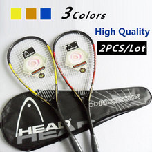 Carbon Light Head Squash Rackets Indoor Sports Equipment 100% Brand New Orange/Blue/Yellow 3 Colors For Men And Women Raquettes