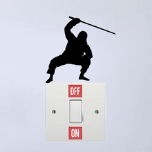 Ninja Martial Bedroom Accessories Switch Sticker Vinyl Decor Wall Decal 6SS0138