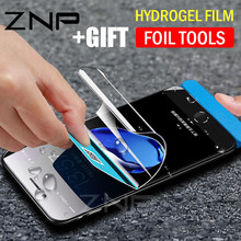 Buy ZNP Full Cover Hydrogel Screen Protector Soft Film iPhone X 7 8 Plus 10 Soft Protector Film iPhone 6 6s Plus (Not Glass) for $2.84 in AliExpress store