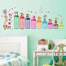 Hot style sell like hot cakes can remove PVC wall posted 99 times table kindergarten children room stickers Family Wall Stickers