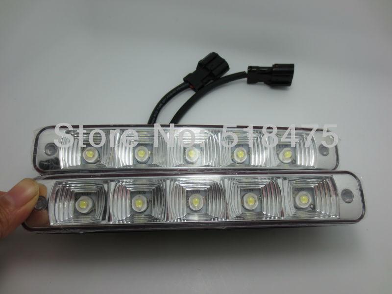 2pcs NEW  5LED Universal Car Light DRL Daytime Running Head Lamp Super White Free shipping<br><br>Aliexpress