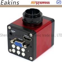 "13MP 1/3"" CMOS Industry microscope Camera HDMI VGA outputs 60F/S 720P +2.5X Industry microscope eyepiece lens"