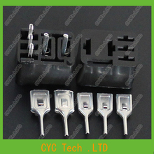 10pcs Violet PCB Car/Automobile Relay Sockets with Terminals,Flame Retardant , Resistance to High Temperature,16*24*11mm