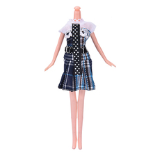 1 pcs Summer Mini Dot Printing Dress for Barbie Lovely Handmade Doll Dress