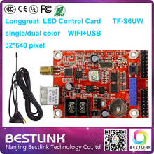 longgreat led display controller card tf-s6uw wifi usb port led control card 32*640 pixel wireless led advertising billboard diy